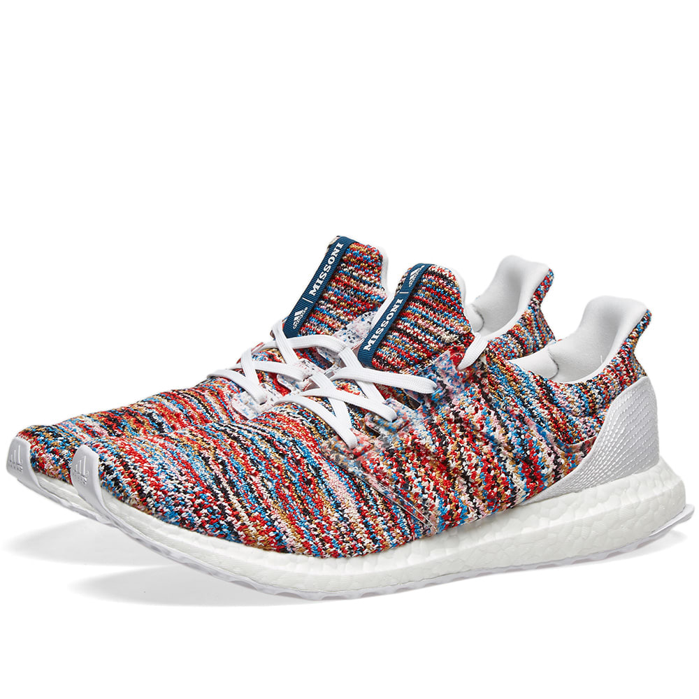 low priced 7f5c1 4180c Adidas x Missoni Ultra Boost CLIMA White, Shock Cyan   Red   END.