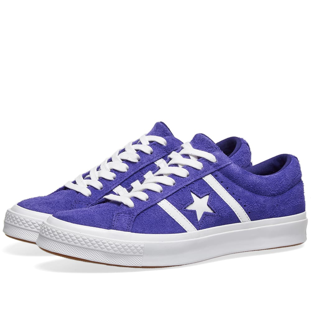 f746811e990 Converse One Star Academy Ox Court Purple, White & White | END.