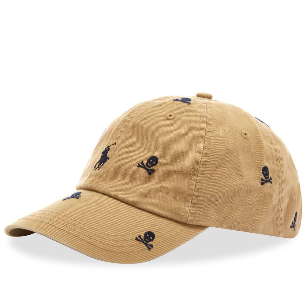 1acf5dba85 Polo Ralph Lauren Skull   Crossbones Baseball Cap Luxury Tan