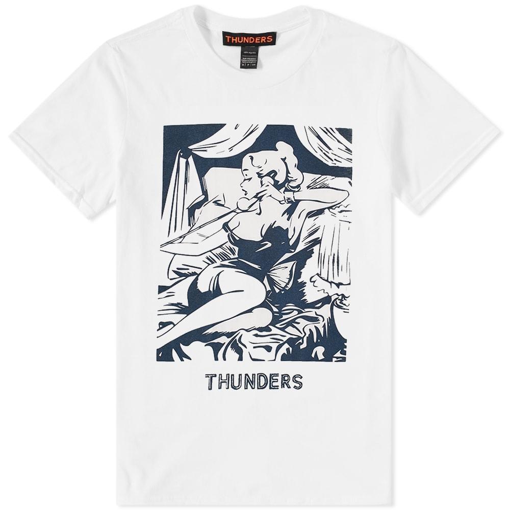 THUNDERS Mr Thunders Call Girl Tee in White