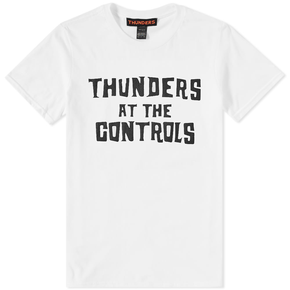 THUNDERS At The Controls Cotton-Jersey T-Shirt in White