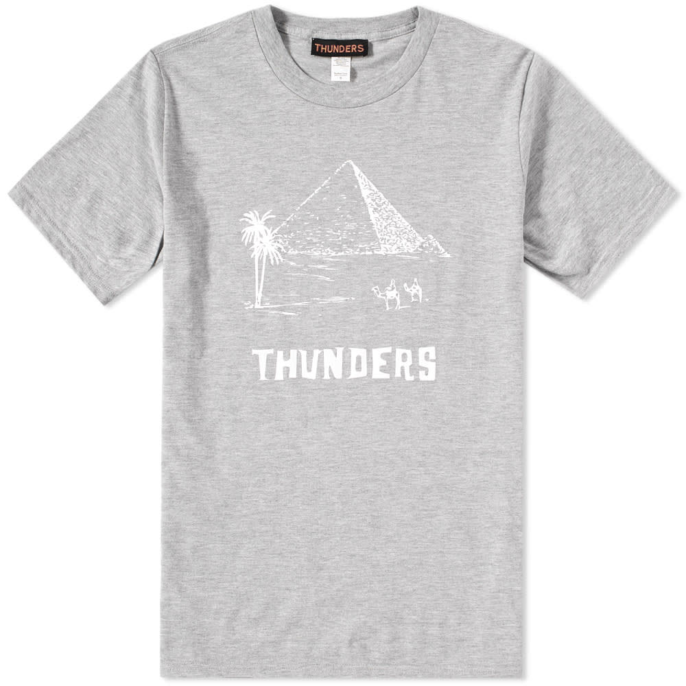 THUNDERS Mr Thunders Pyramid Tee in Grey