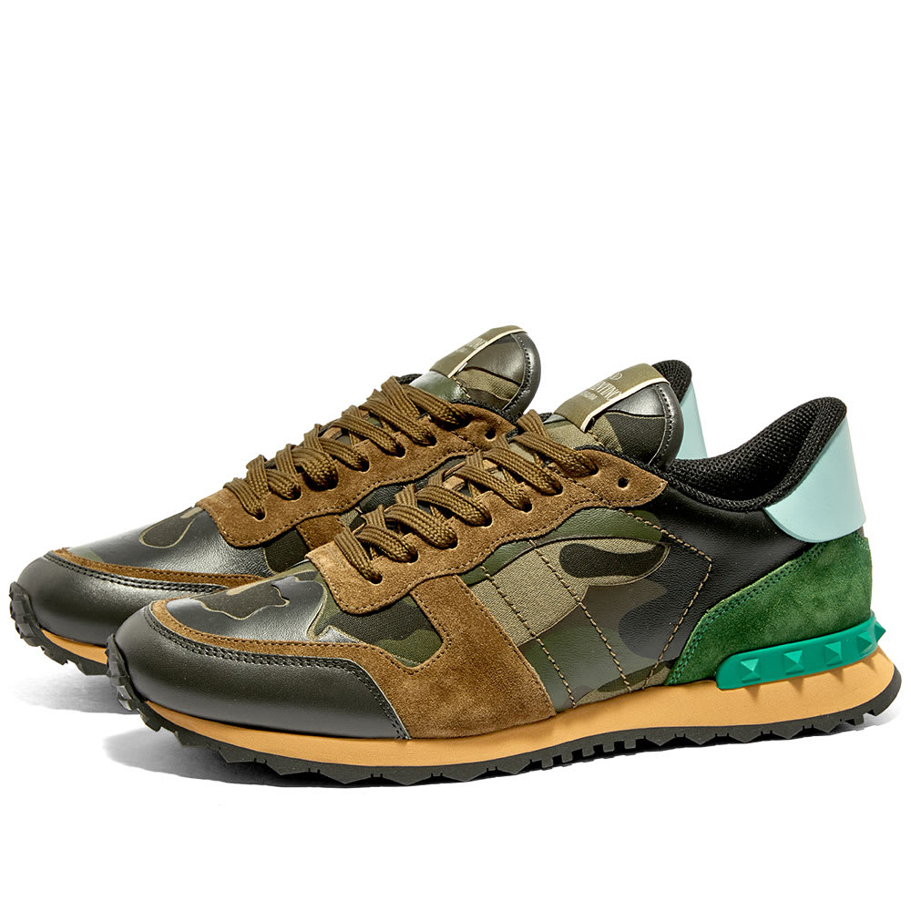 599501f261c57 Valentino Rockrunner Sneaker Army Green & Brushwood Camo | END.