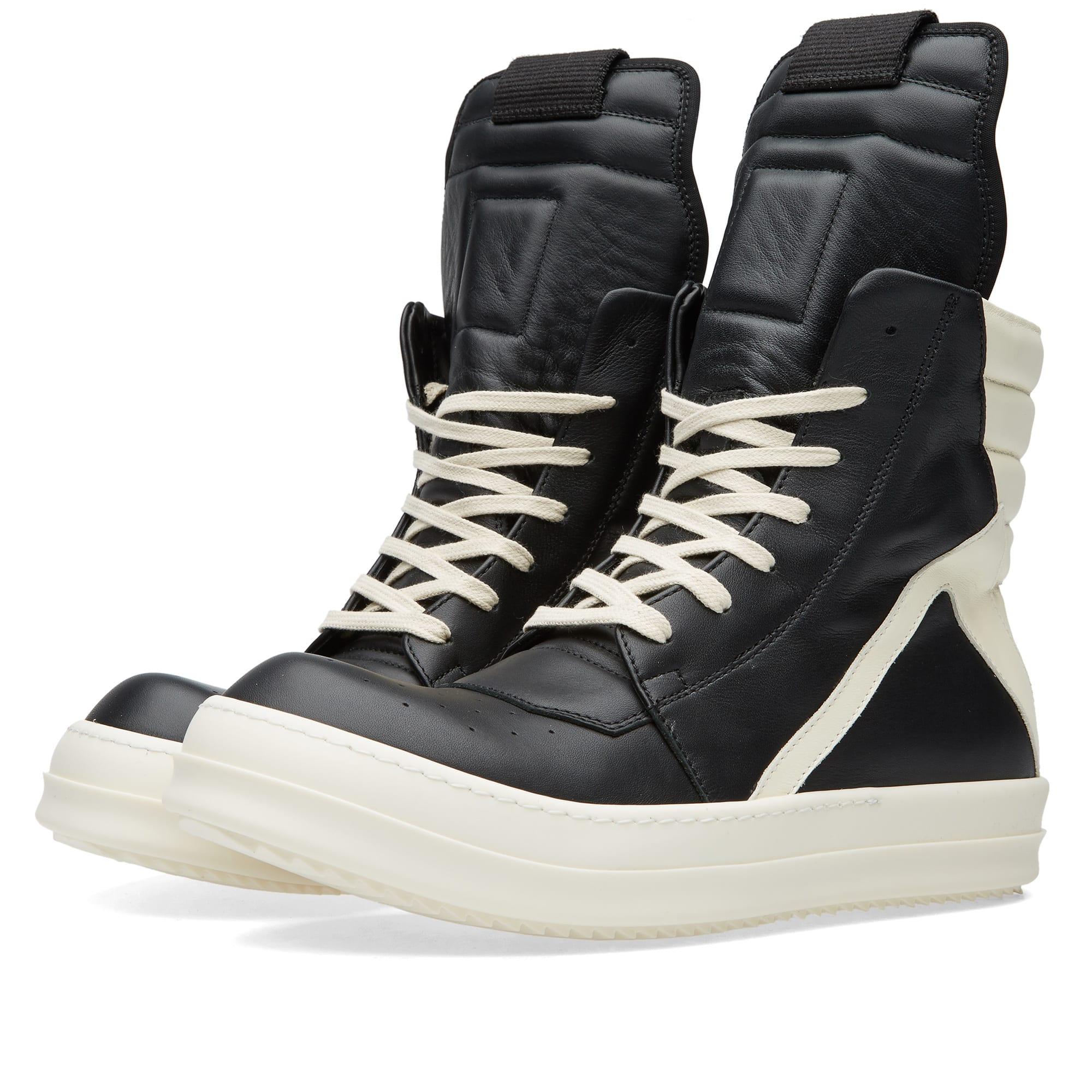 rick owens geobasket sneaker black white. Black Bedroom Furniture Sets. Home Design Ideas