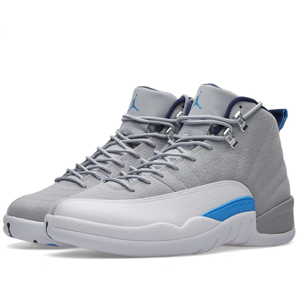 d6afe10d7b5d Nike Air Jordan 12 Retro Wolf Grey   University Blue