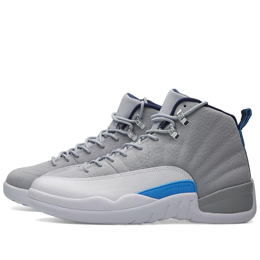 d6afe10d7b5d Nike Air Jordan 12 Retro Wolf Grey   University Blue
