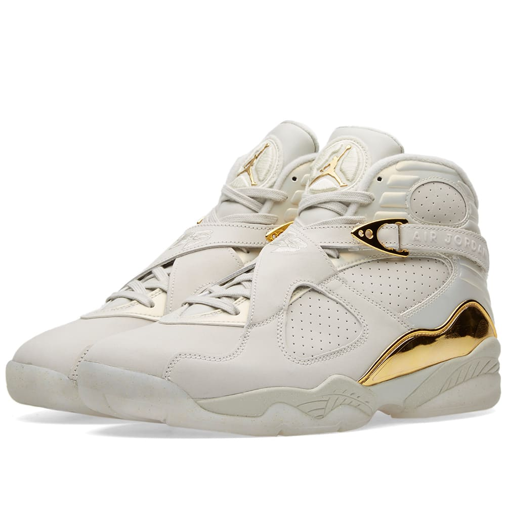 f8bece5f925d Nike Air Jordan 8 Retro C C Light Bone   Metallic Gold