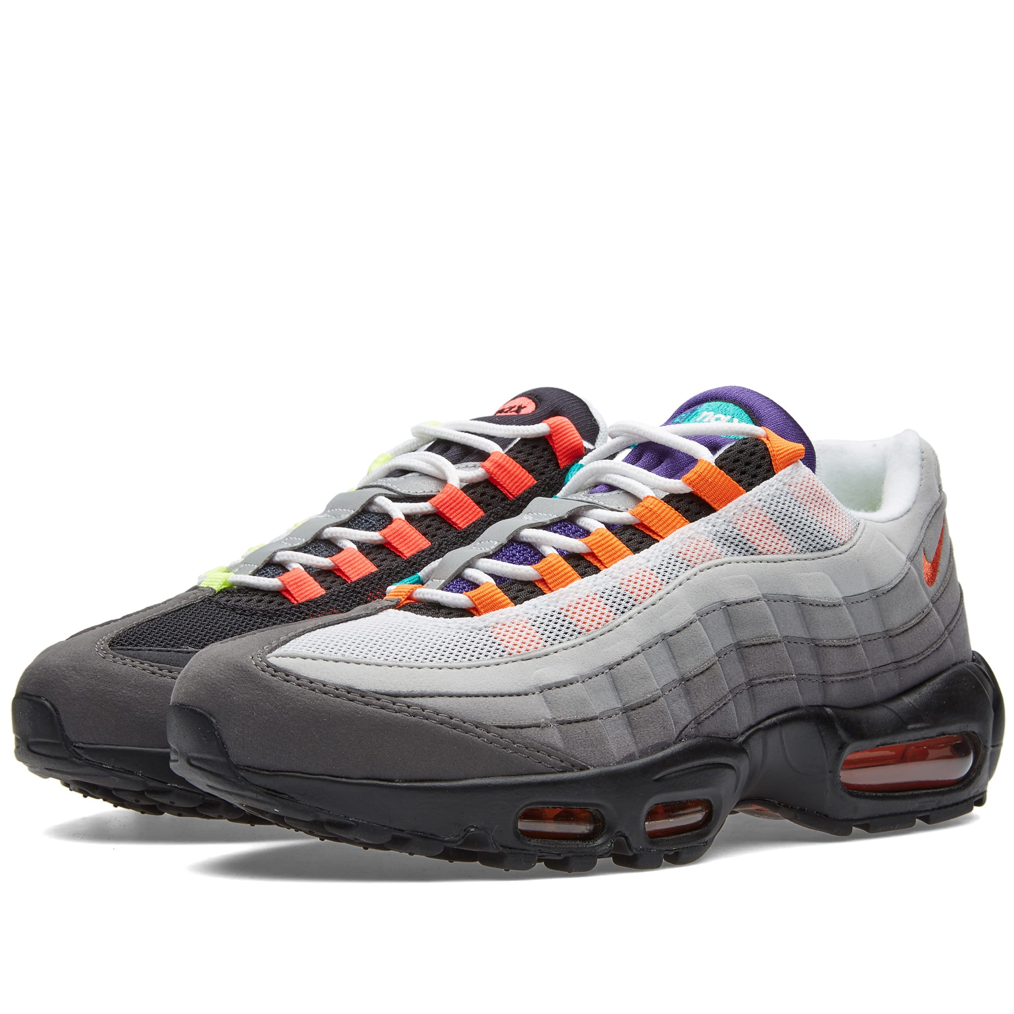 pretty nice 23153 5c551 Nike Air Max 95 OG QS  Greedy  Black, Volt   Safety Orange   END.