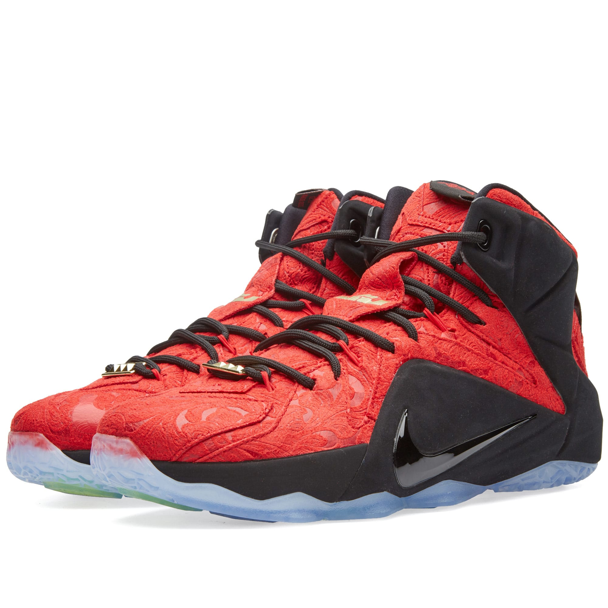 sale retailer d077c 71bcc Nike LeBron XII EXT  Red Paisley  University Red   Black   END.