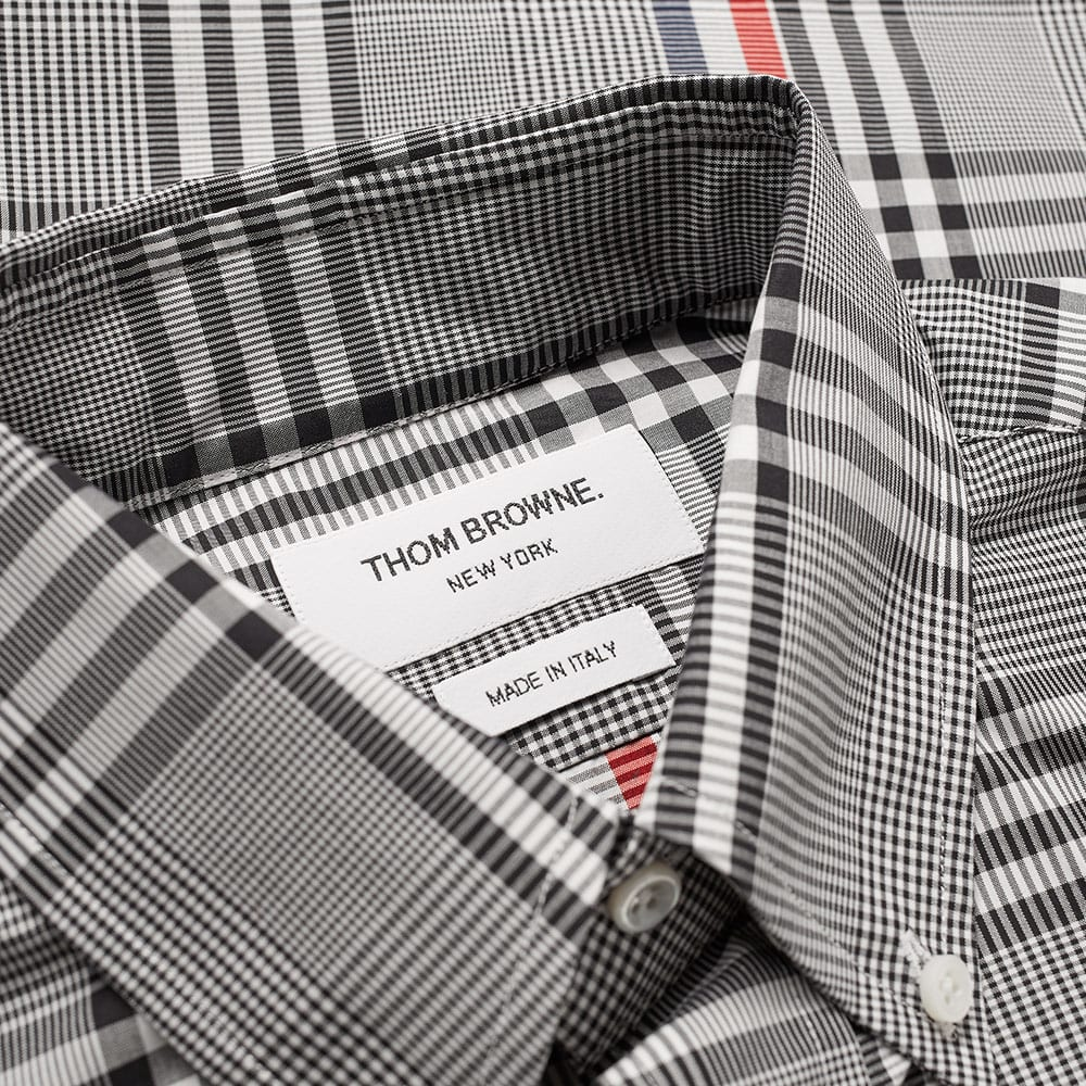 61850f56750d Thom Browne Stripe Check Shirt Black & White | END.