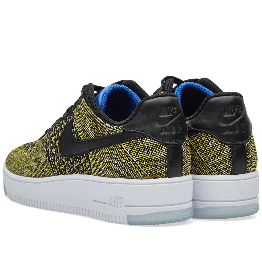 big sale 7bfec 4a6ad Nike W Air Force 1 Flyknit Low Black   Blue Tint   END.