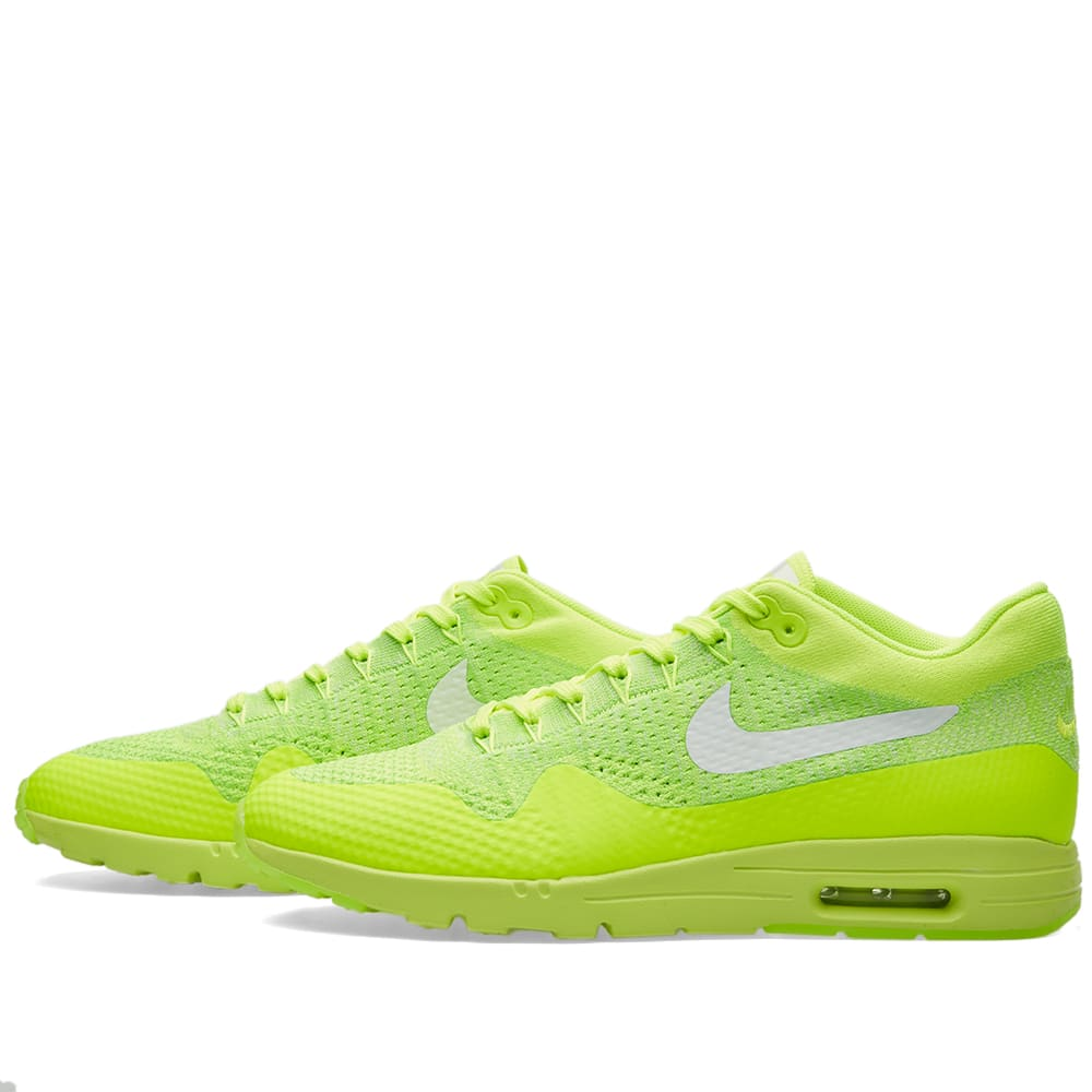 9077c3f8da Nike W Air Max 1 Ultra Flyknit Volt, White & Electric Green | END.