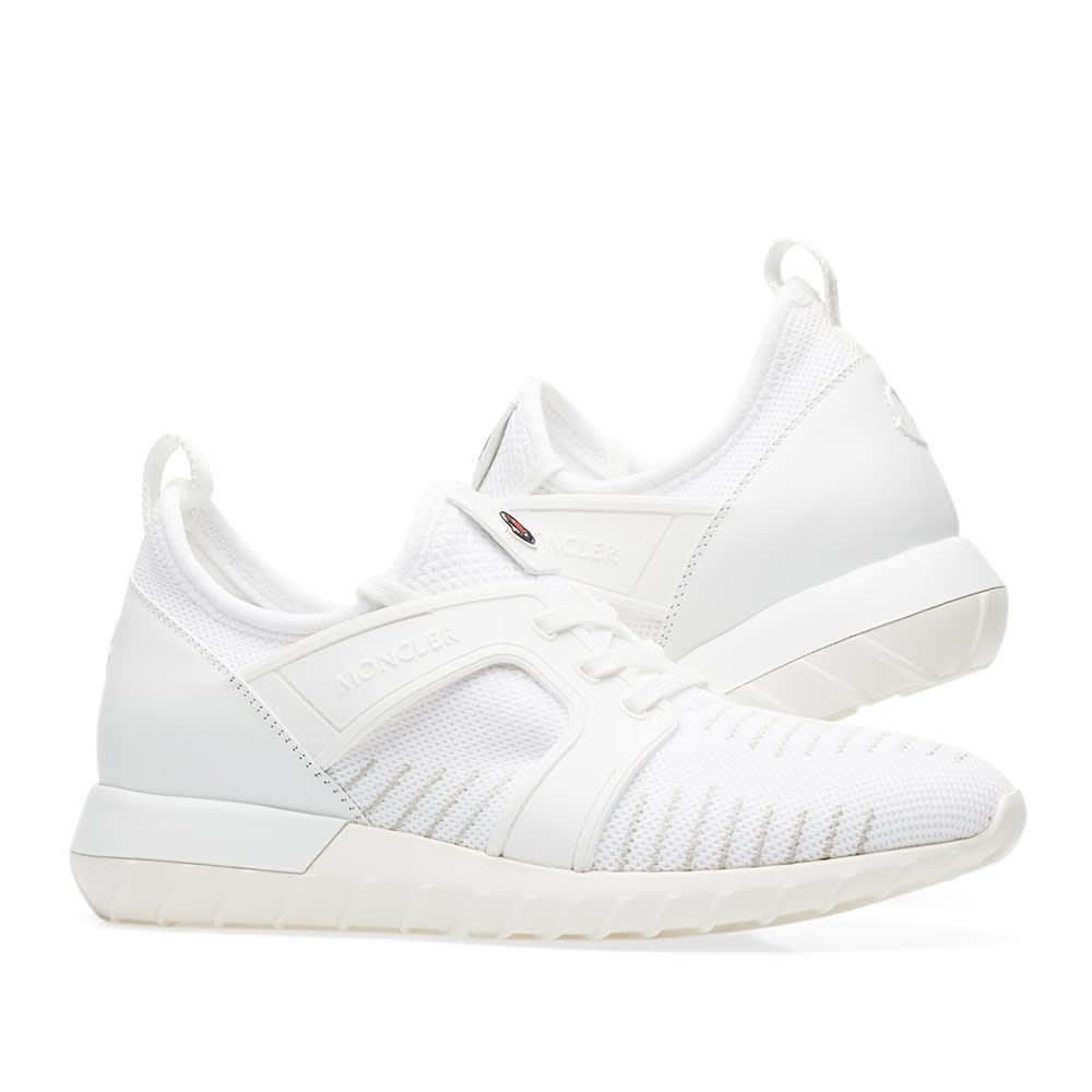 Moncler Emilien Knitted Sneaker White