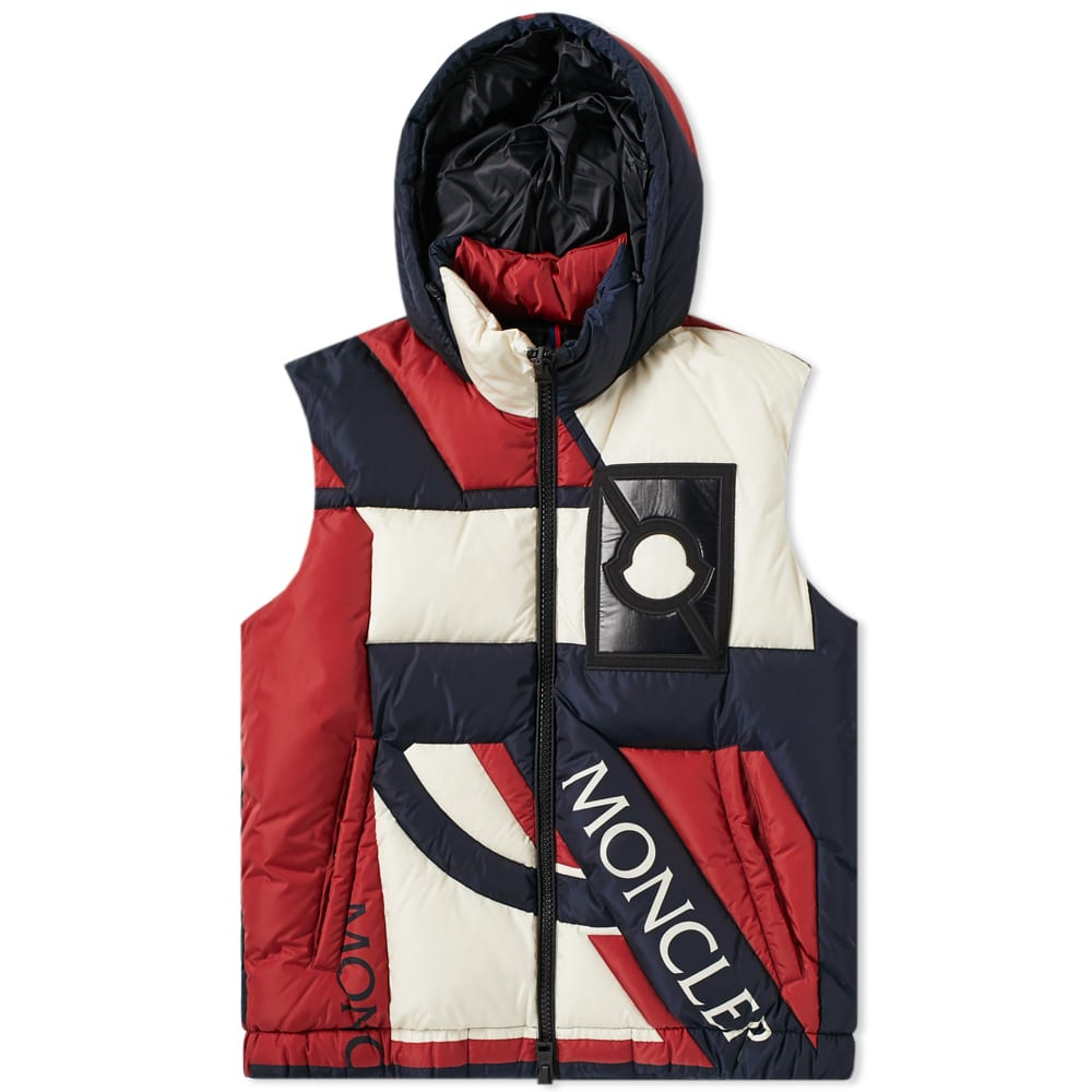 d4b08a176806 Moncler Genius 5 Moncler Craig Green Colour-Block Quilted Shell Hooded Down  Gilet In Multicolored