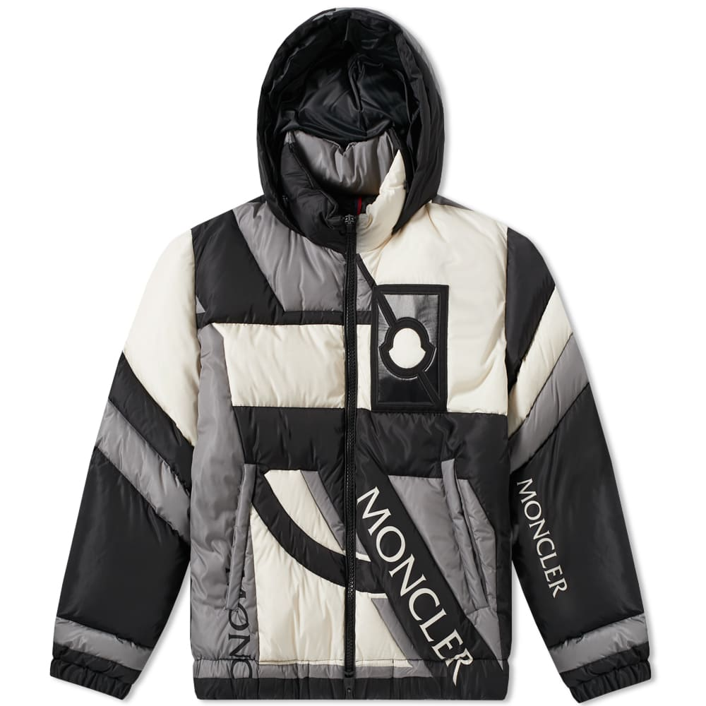 MONCLER GENIUS 5 MONCLER CRAIG GREEN COLOUR-BLOCK QUILTED SHELL HOODED DOWN JACKET, MULTI