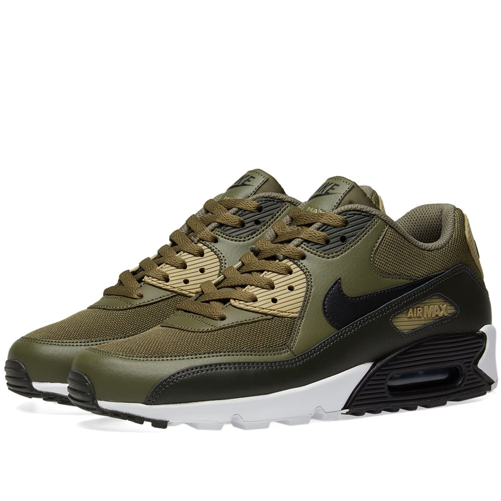Nike Air Max 90 Essential Olive, Black & Sequoia | END.