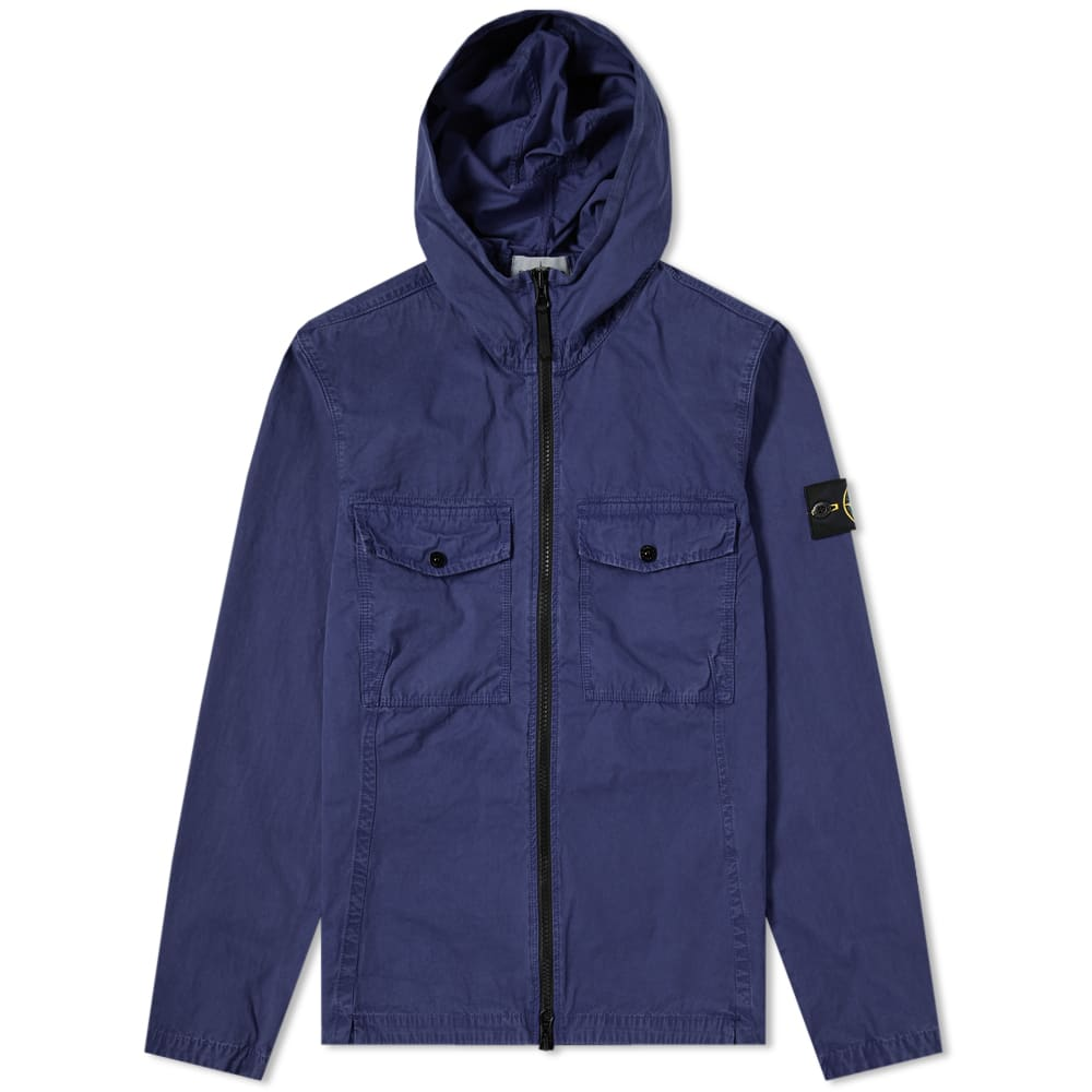 new products 88904 0e947 Stone Island Garment Dyed Hooded Zip Shirt