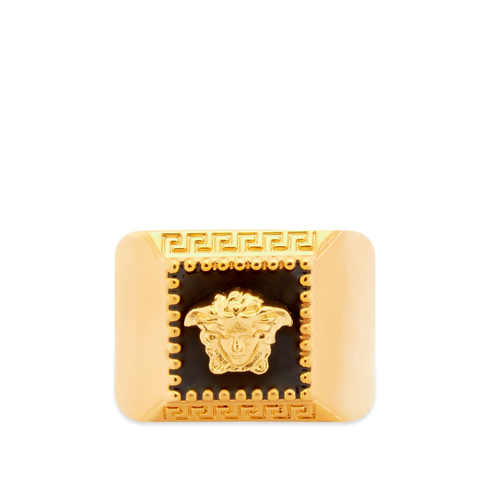 Versace Square Medusa Head Signet Ring