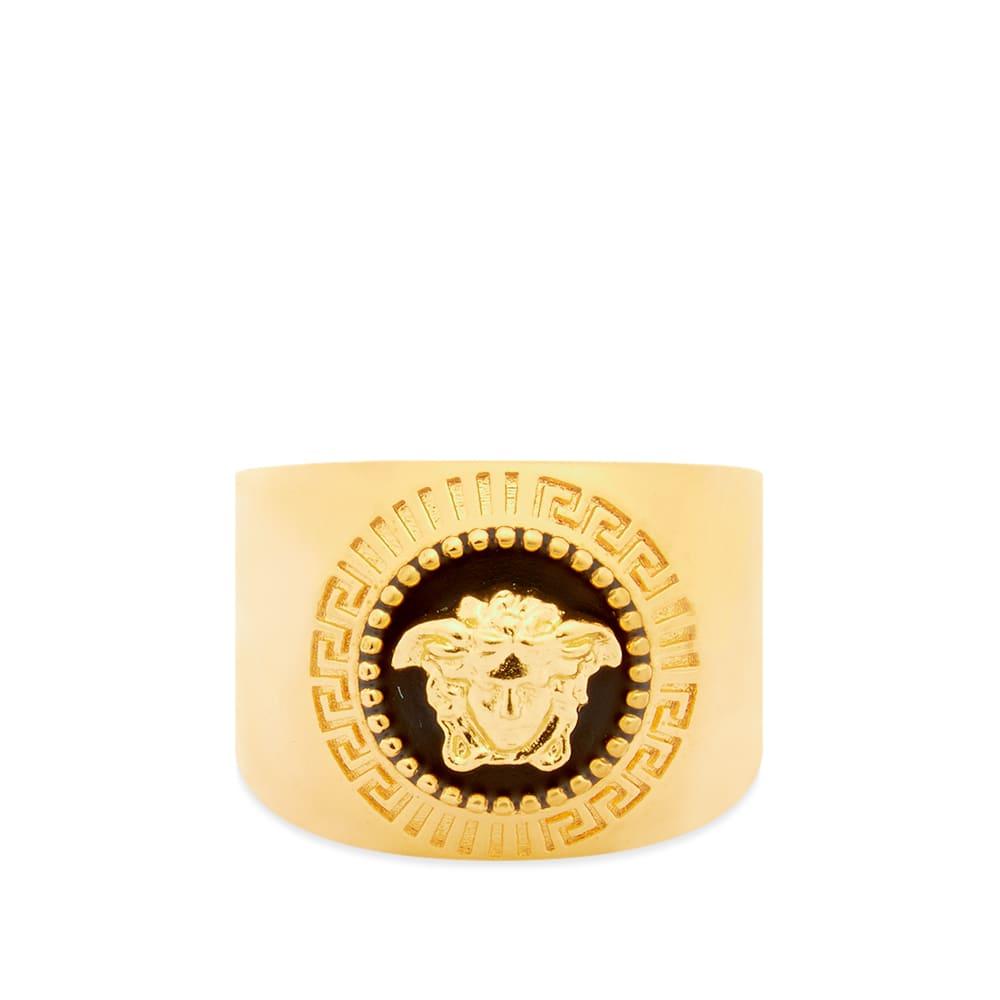 Versace Round Medusa Head Signet Ring