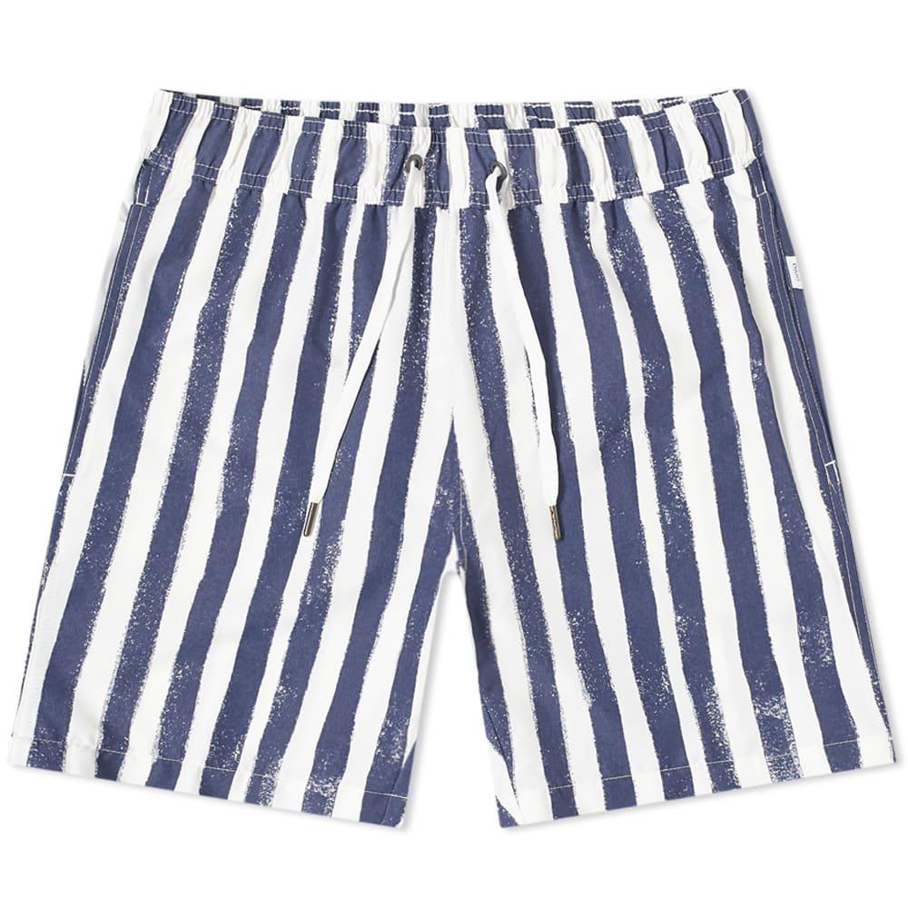 "Onia Onia Charles 7"" Painted Stripe Swim Short"