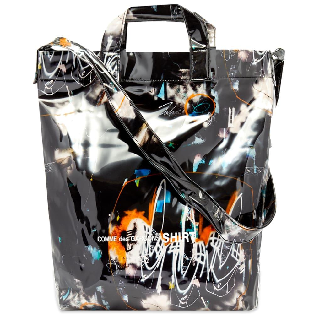 Comme Des Garçons Shirt Comme des Garcons SHIRT Futura Print A Tote Bag