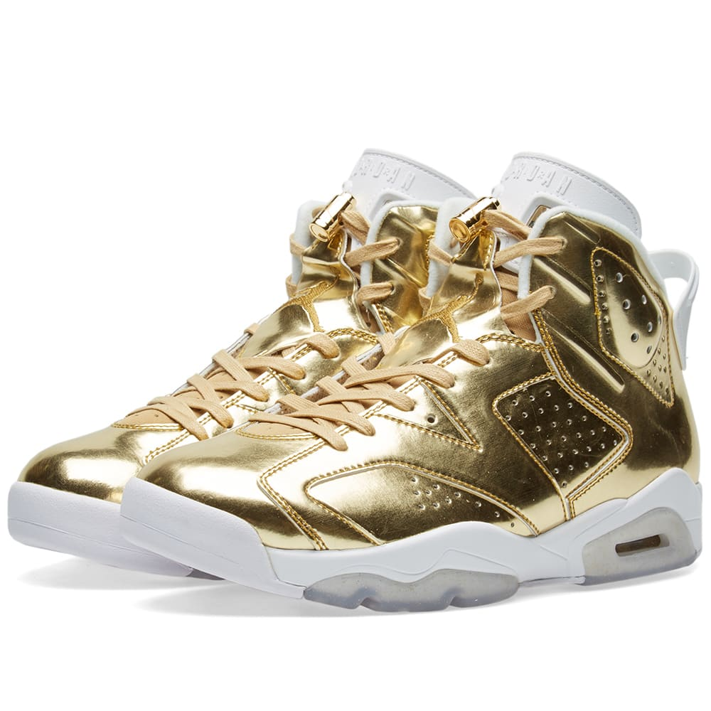 aa915a3ccc6c7e Nike Air Jordan 6 Retro Pinnacle Metallic Gold   White