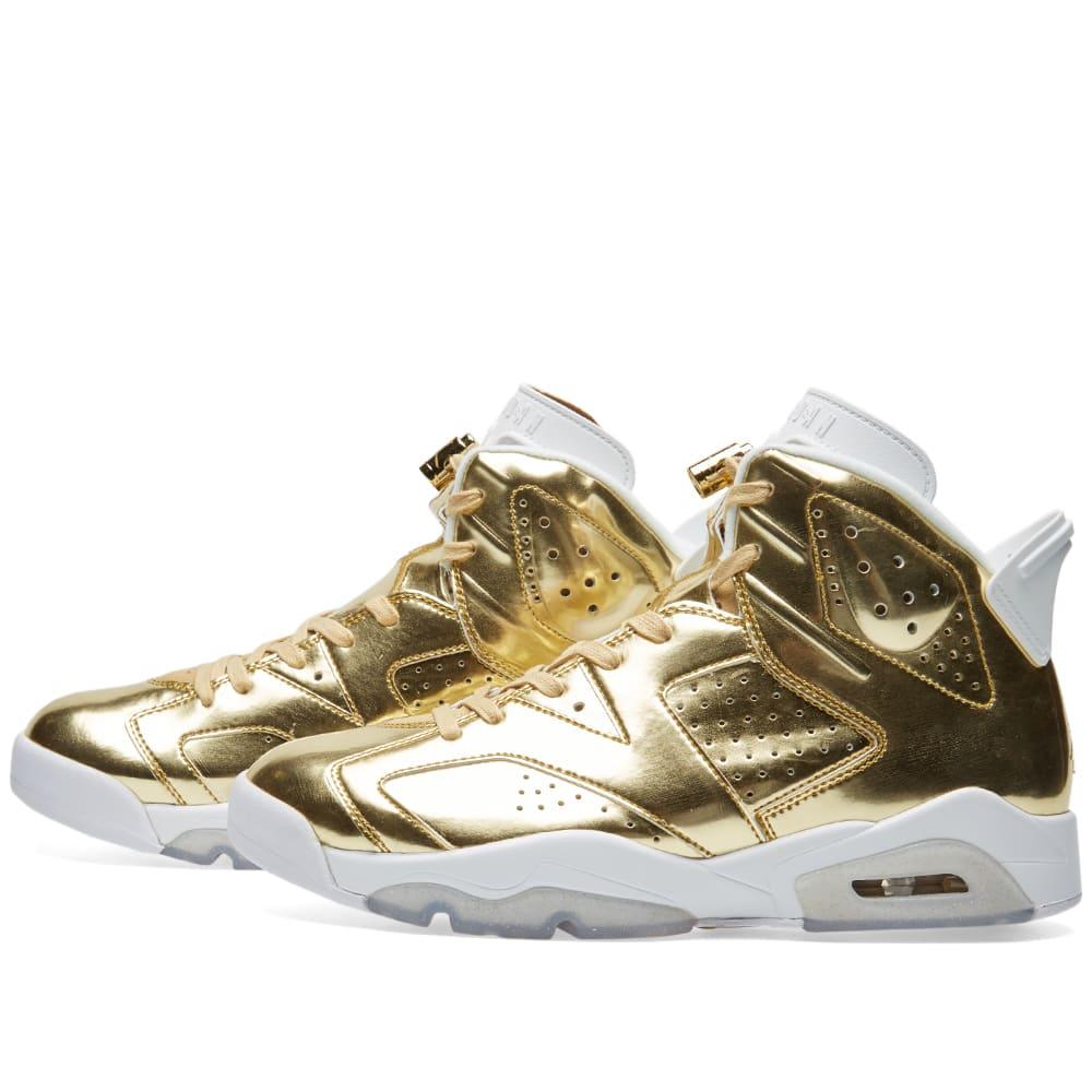 aa915a3ccc6c7e Nike Air Jordan 6 Retro Pinnacle Metallic Gold   White