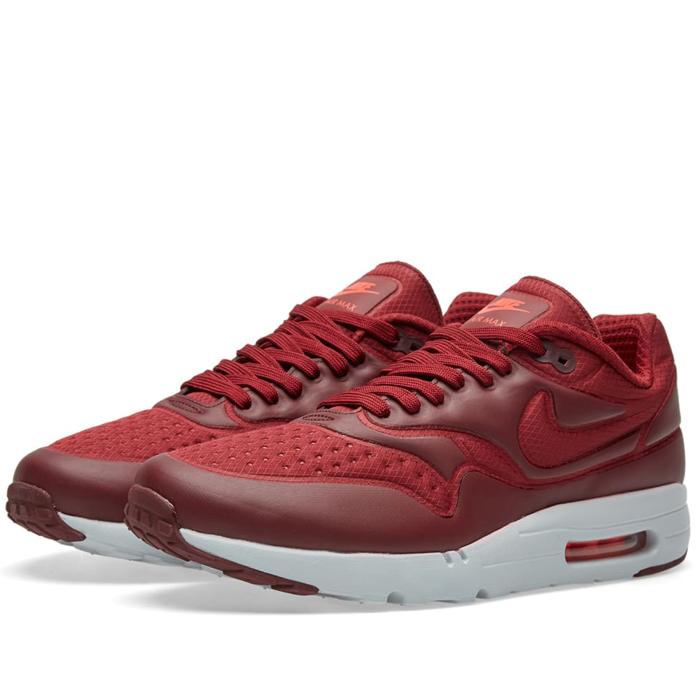 reputable site 96e45 7240c Nike Air Max 1 Ultra SE Team Red   Night Maroon   END.