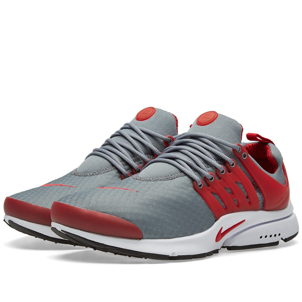 nike air presto essential cool grey gym red. Black Bedroom Furniture Sets. Home Design Ideas