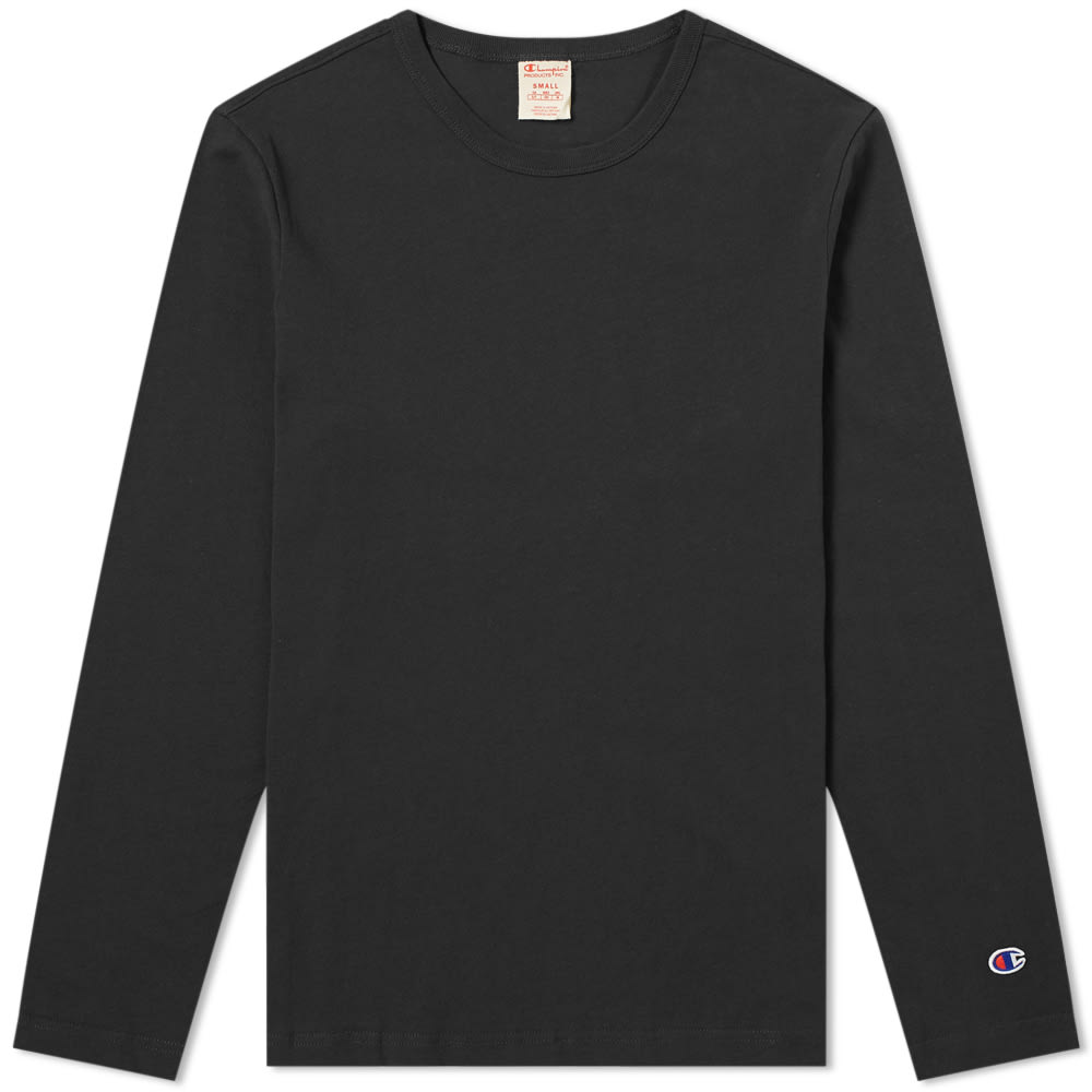 55ca01d4 Champion Reverse Weave Long Sleeve Classic Tee Black | END.