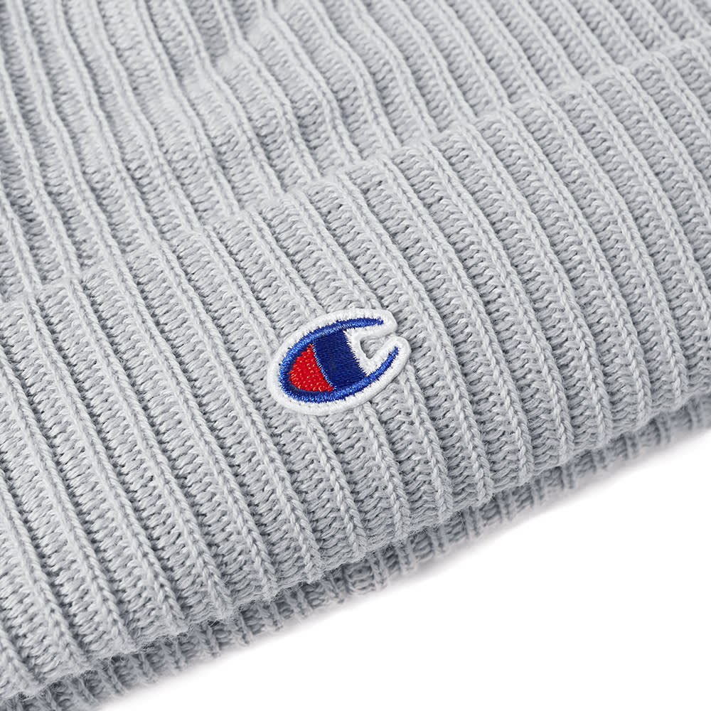 f3c25c539f83ca Champion Reverse Weave Logo Beanie Grey Melange | END.