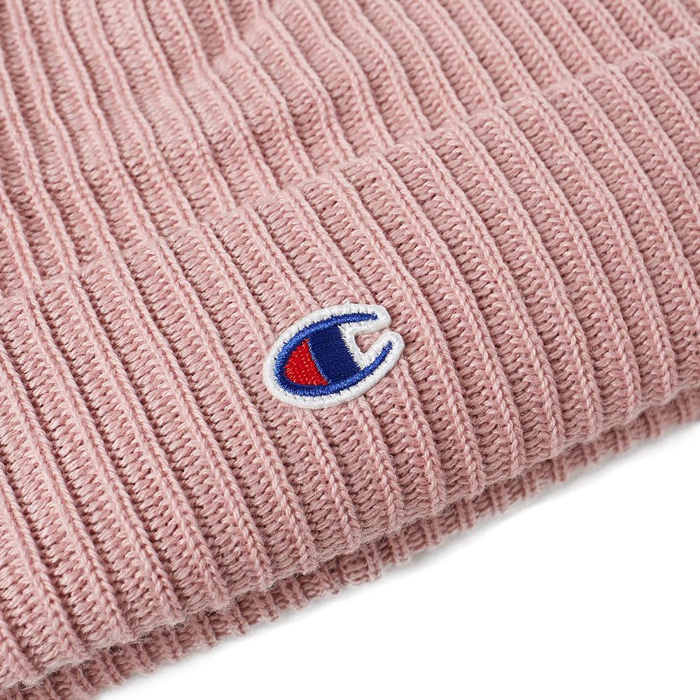 9a3a29bb29b36 Champion Reverse Weave Logo Beanie Pink