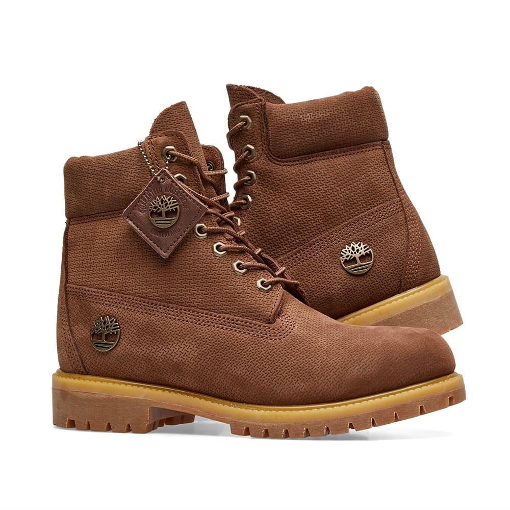 Dark Brown Nubuck Timberland 6 Inch Premium Boot