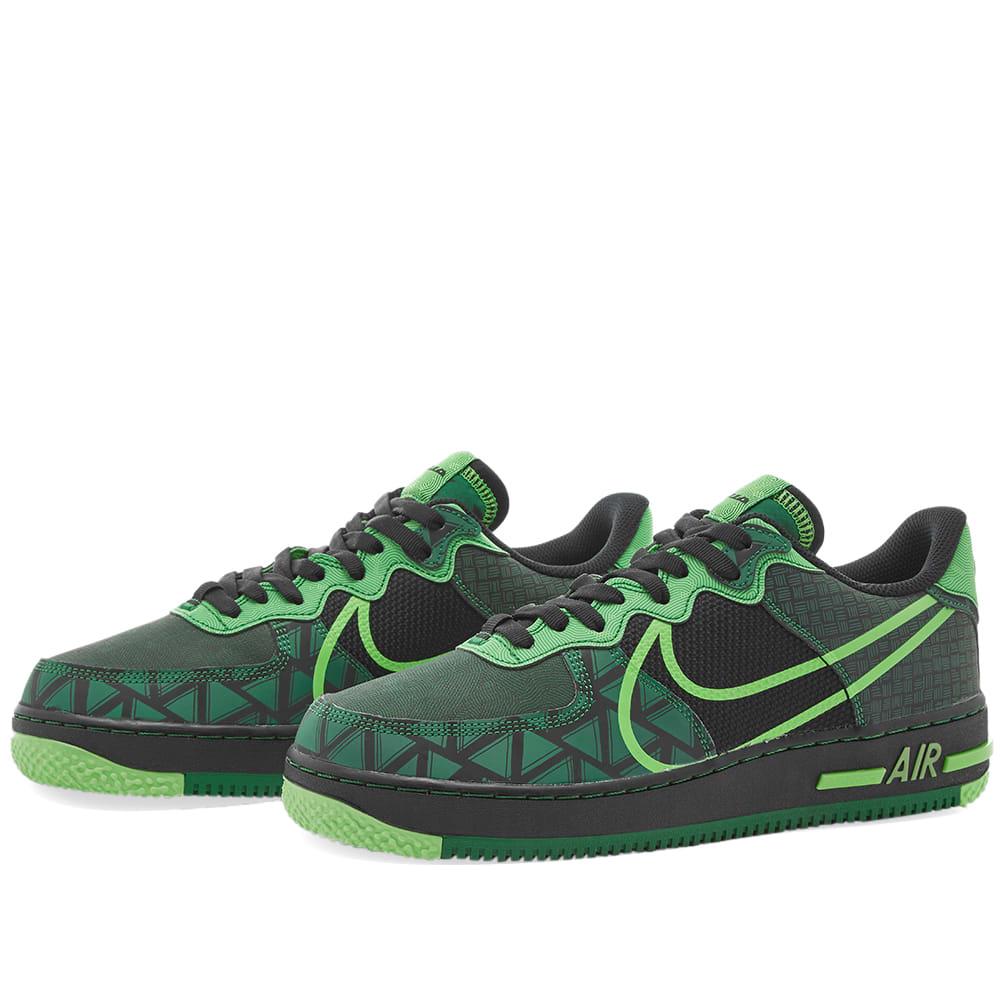 Nike Air Force 1 React Black, Green