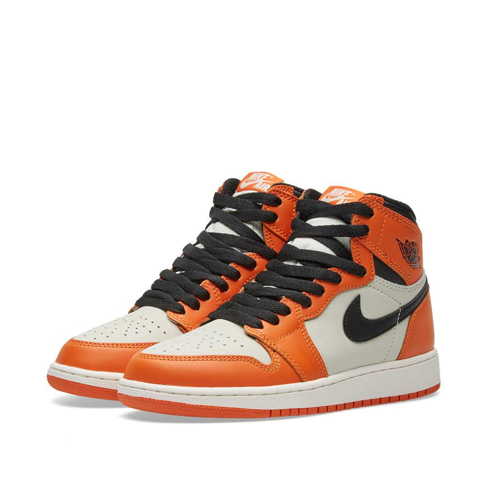 size 40 ed296 10410 Nike Air Jordan 1 Retro High OG BG Sail, Black   Starfish   END.
