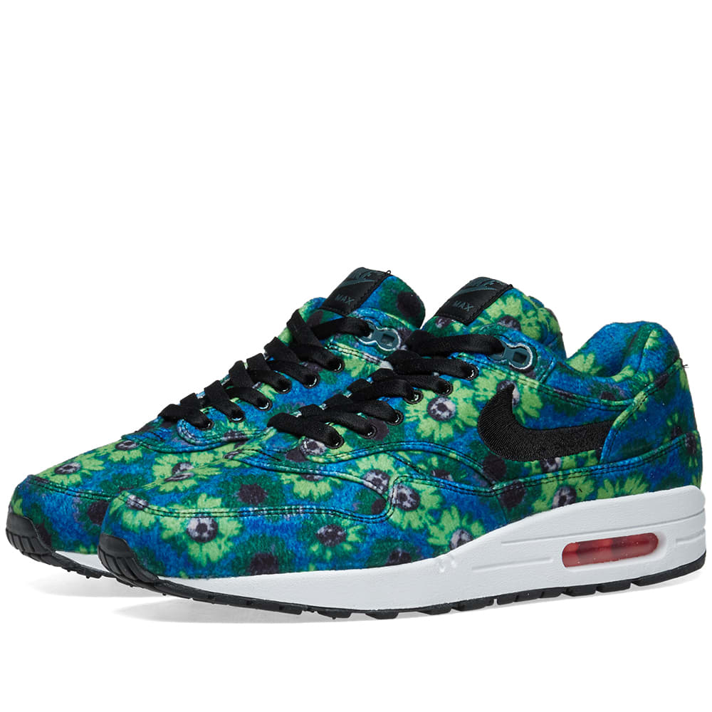 35365c86cb Nike Air Max 1 Premium SE 'Floral' Oil Grey, Volt & Khaki | END.