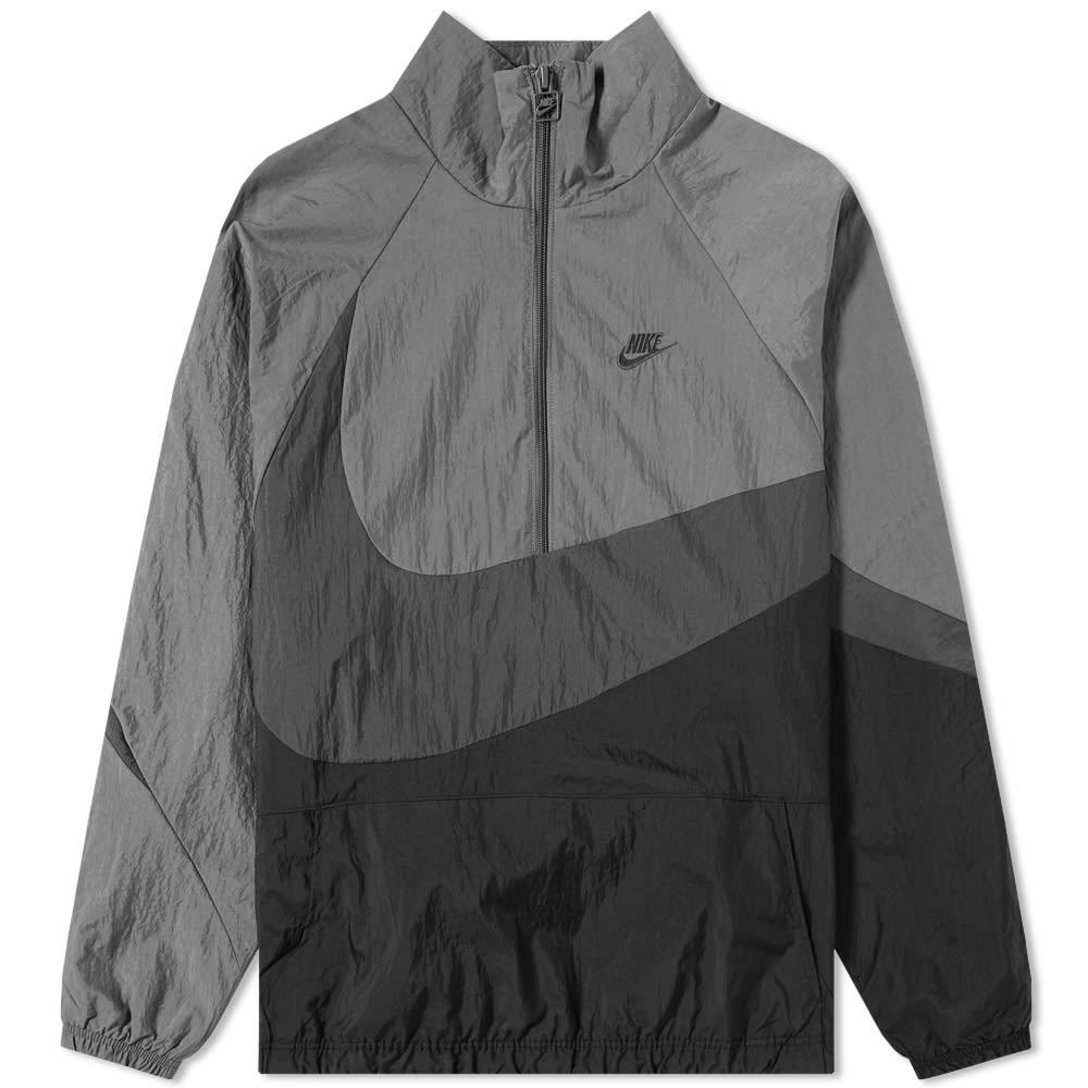 4880d7afe877 Nike NSW Swoosh Woven Half Zip Jacket Black