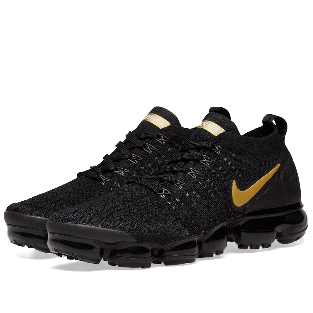 sports shoes 2aa70 acc70 Nike Air VaporMax Flyknit 2 W Black, Gold   Platinum   END.