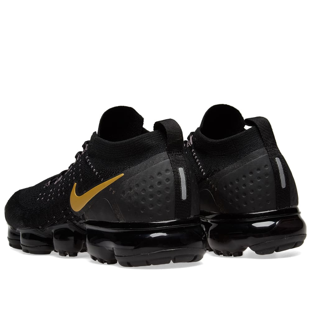 sports shoes b0508 3c325 Nike Air VaporMax Flyknit 2 W Black, Gold   Platinum   END.
