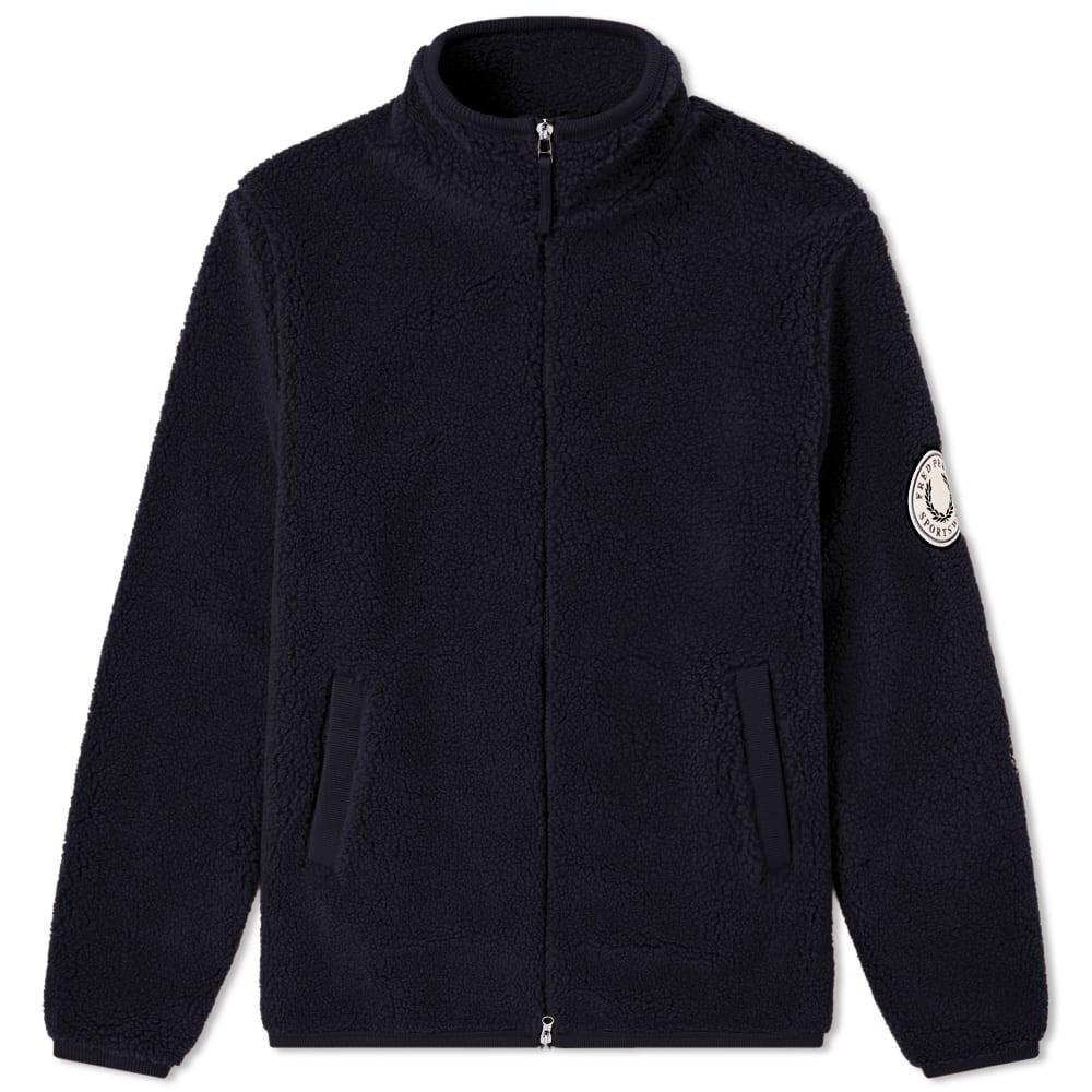 7f9926201 Fred Perry Borg Zip Through Fleece Jacket