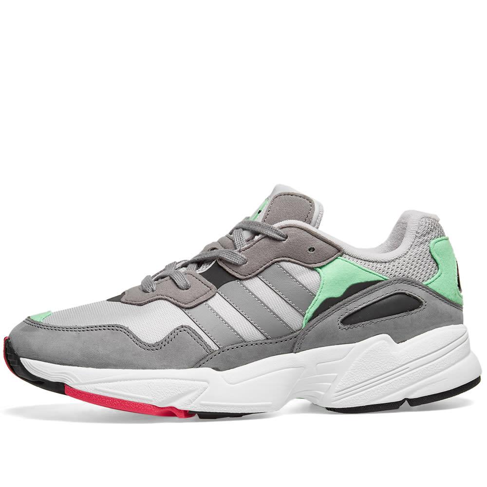 f48019ac6d40 Adidas Yung 96 Grey   Shock Pink