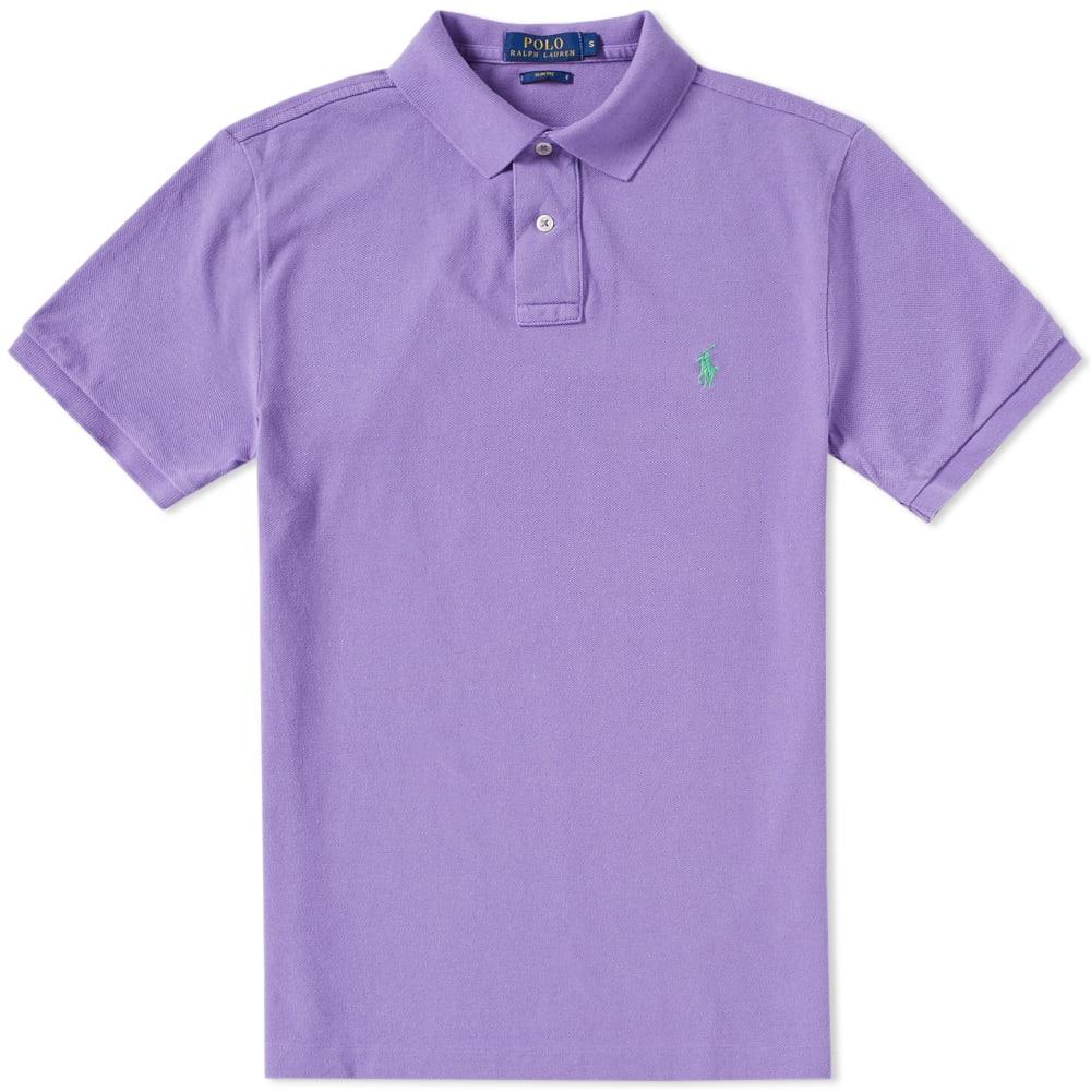 Polo Ralph Lauren Slim Fit Polo Bath Purple