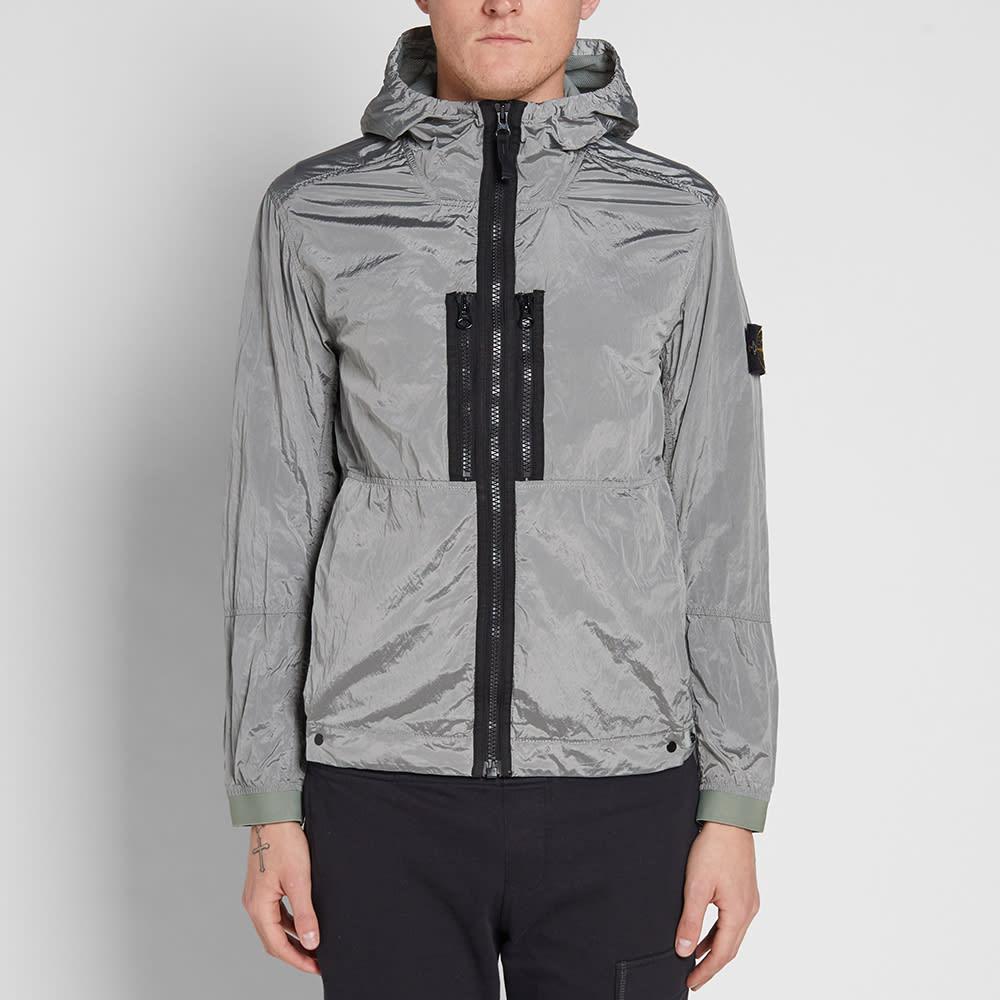 Stone Island Nylon Metal Hooded Jacket (Light Grey )