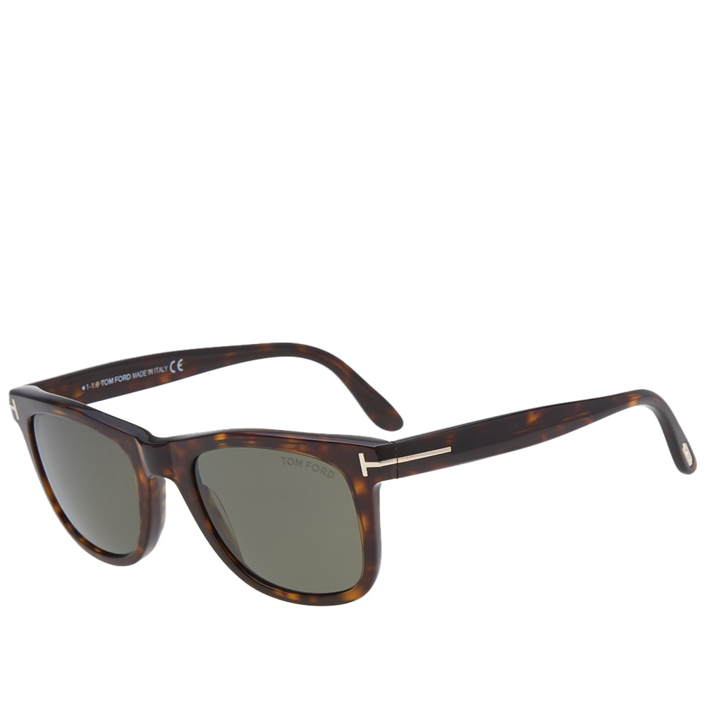 7ea20b97d1c9e Tom Ford FT0336 Leo Sunglasses Havana   Green Polarized