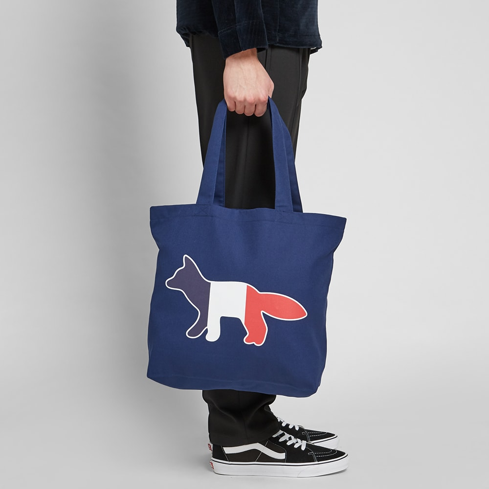 new lower prices exquisite design hot new products Maison Kitsuné Tricolour Fox Tote Bag