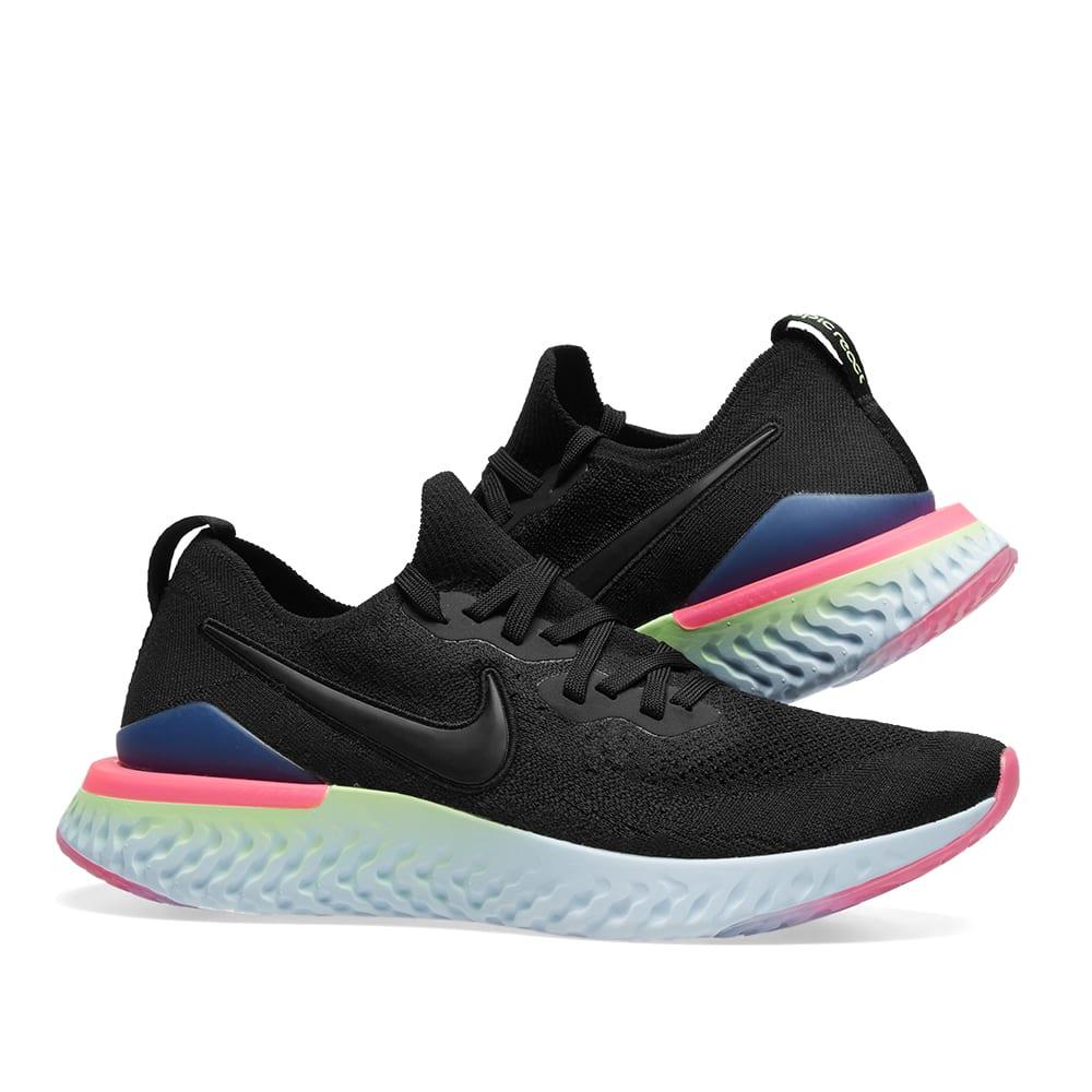 48b93220c10d Nike Epic React Flyknit 2 Black