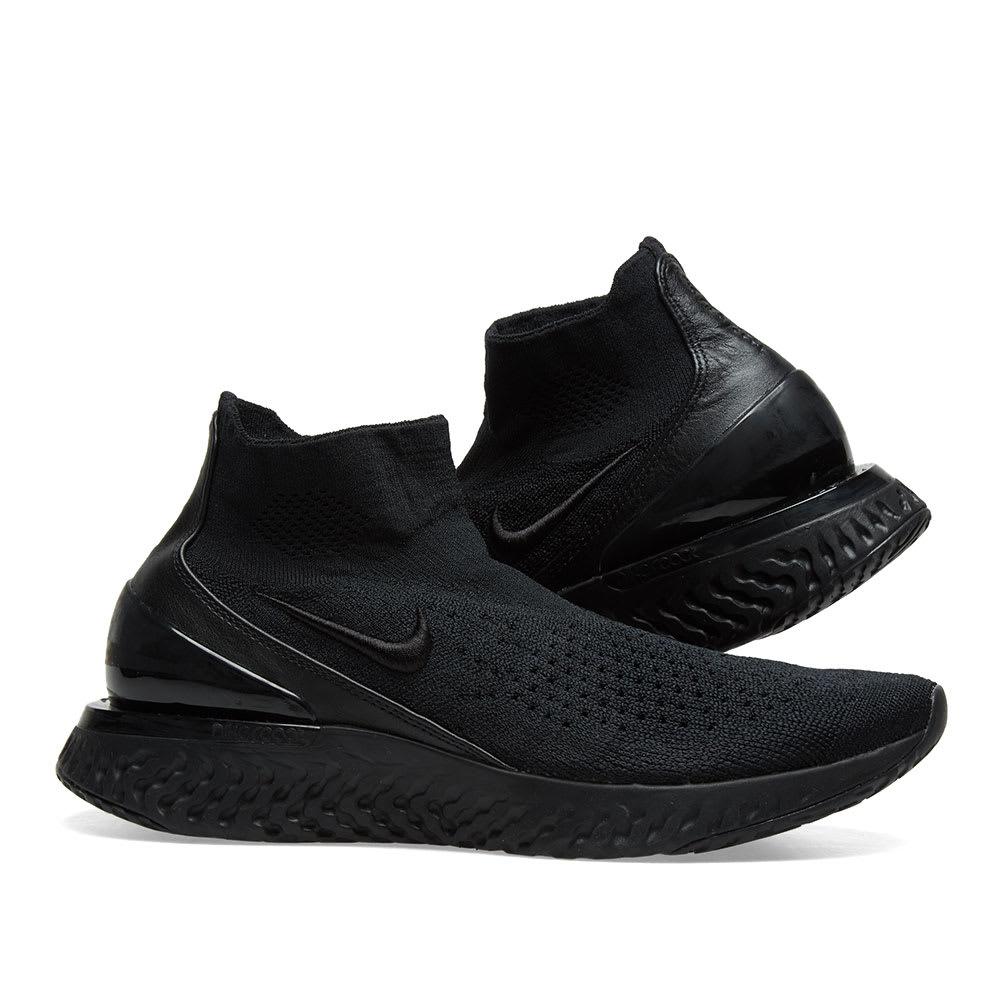 Nike Rise React Flyknit W Black \u0026 White