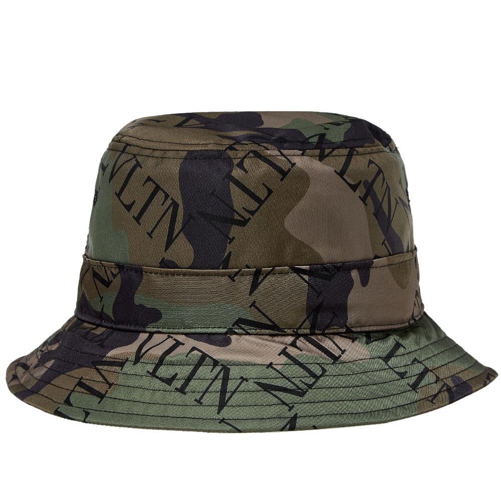 Valentino Grid Logo Bucket Hat