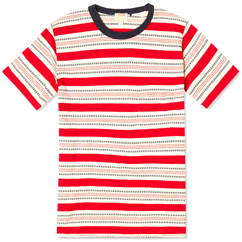 a986092c Levi's Vintage 1960s Striped Tee Red & Navy | END.