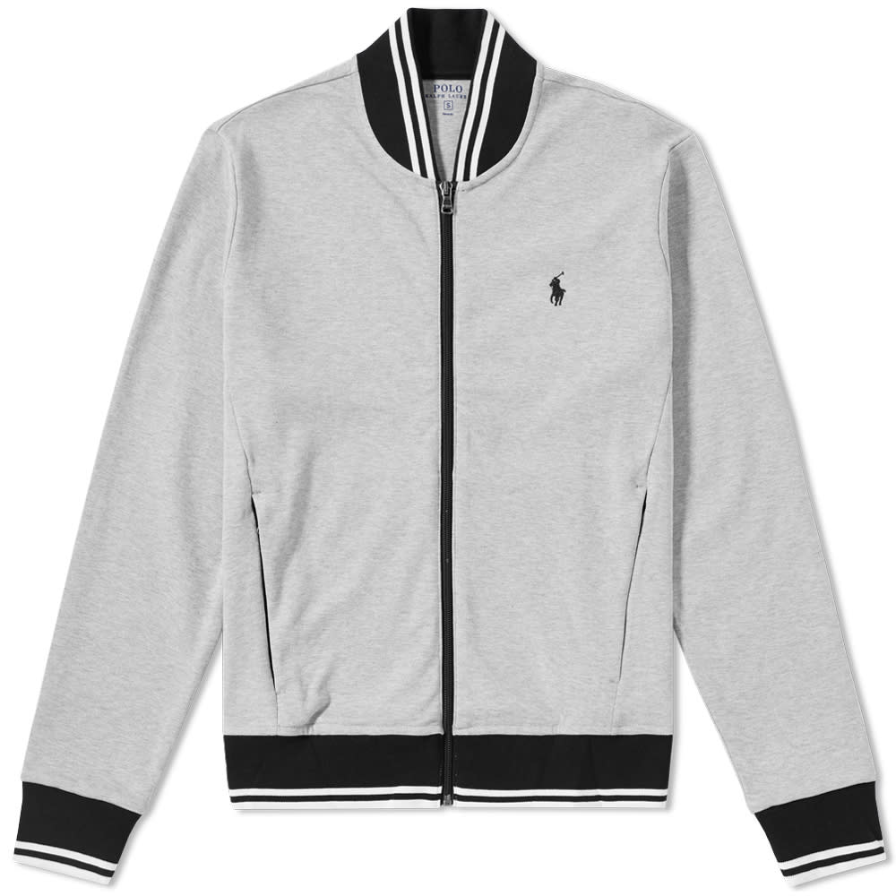 8ae8796b342 Polo Ralph Lauren Tipped Jersey Bomber Jacket Grey Heather | END.